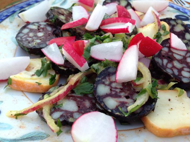 Blutwurst Salat